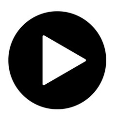 Play button silhouette icon vector