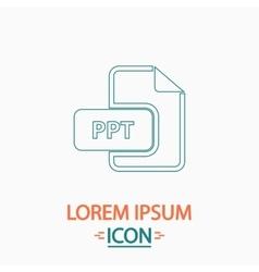 PPT computer symbol vector image