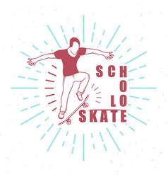 retro of skateboarding badge vector image