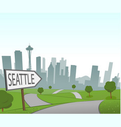 road to seattle vector image