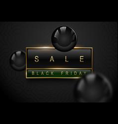 Sale black friday luxury banner golden text on vector
