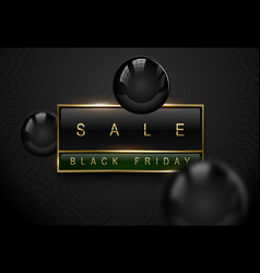 sale black friday luxury banner golden text vector image