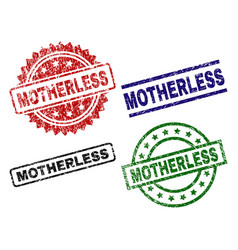 Scratched textured motherless stamp seals vector