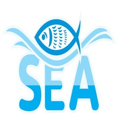 Sea icon vector