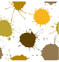 seamless background of ink color stains vector image