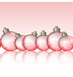Seamless horizontal border of Christmas balls vector image