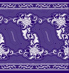 Seamless horizontal pattern on tibetan motifs vector