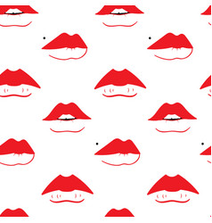 seamless pattern with different sexy female lips vector image