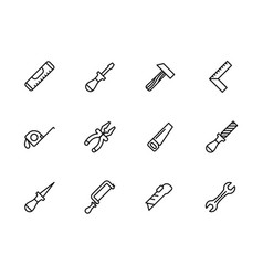 simple set work tools repair tools for locksmith vector image