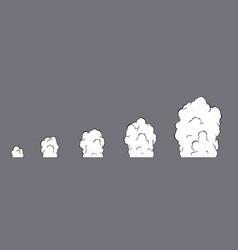 Smoke explosion animation animation vector