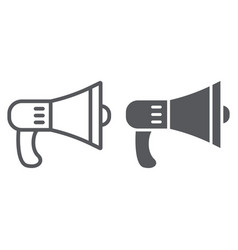 speaker line and glyph icon loud and announcement vector image
