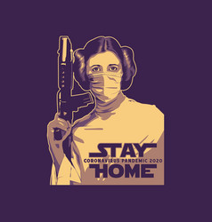 Stay home laila vector