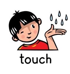 Touch sense icon vector