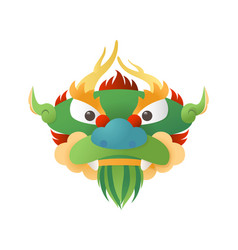traditional chinese dragon - head front view vector image