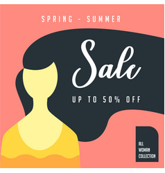 Woman hairs spring summer collection 50 big sale vector