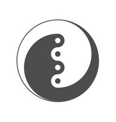 Yin yang symbol of balance and harmony vector
