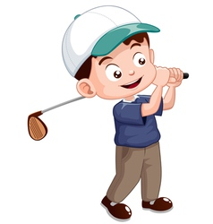 Young golf player vector image