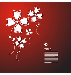 Abstract White Paper Flowers vector image vector image