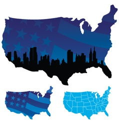 American map vector image vector image