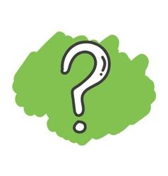 Cartoon doodle question mark vector image