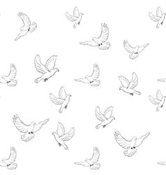 doves pattern vector image