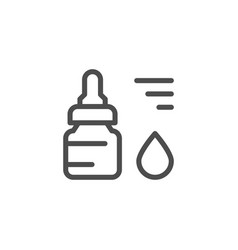 drops line icon vector image