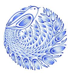 Floral circle vector