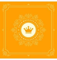 Luxury Logo template flourishes calligraphic vector image vector image