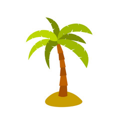 Palm icon flat style vector