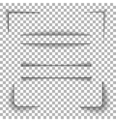 paper shadows set vector image