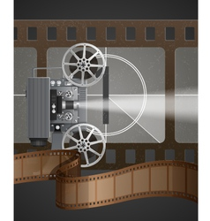 With Movie Projector vector image