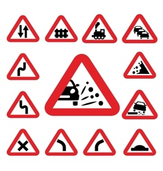 color traffic signs vector image vector image
