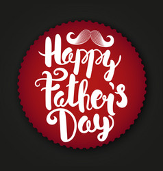 happy fathers day label paper sticker with logo vector image vector image