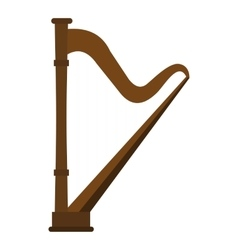 Harp icon flat style vector image vector image