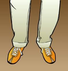men's legs vector image