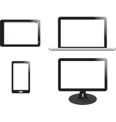 Mobile phone display laptop and tablet vector image