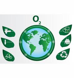 paper art ecology world vector image