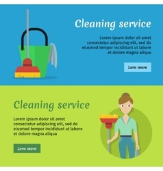 Set of cleaning service banners vector