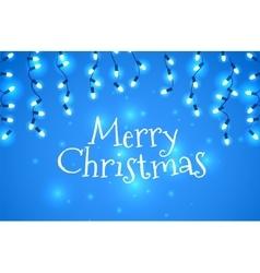 Christmas holidays garlands light vector image vector image