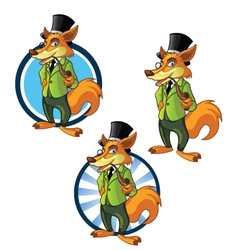 Gentleman Fox vector image vector image