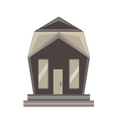 home icon house isolated real estate residential vector image vector image