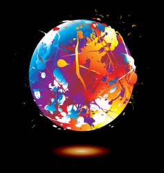 paint splat globe vector image vector image