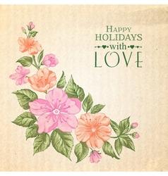 Sakura holiday invitation card vector image vector image