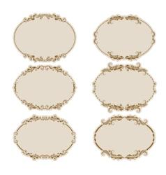 set of ornate frames vector image vector image