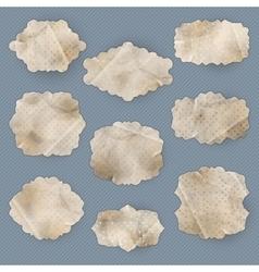 Vintage polka dot card Set EPS 10 vector image vector image