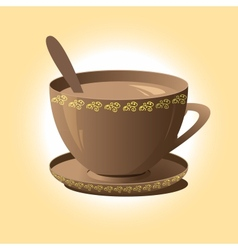 cup of coffee brown vector image