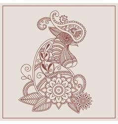 mehendi Henna rooster vector image vector image