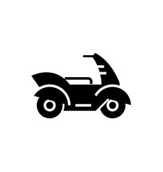 motorcycle - motorbike icon vector image