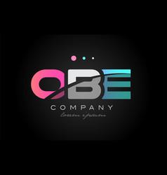obe o b e three letter logo icon design vector image