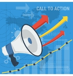 square background call to action vector image